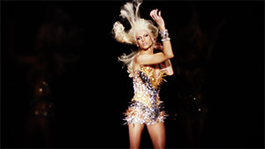 The Blonds fashion editorial clip spiky gold dress