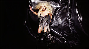 The Blonds fashion editorial video with silver flowing backdrop
