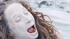 Kathi von Koerber butoh face closeup with white paint