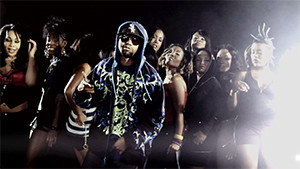 Juvenile music video with dancers crew group shot