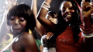 Juvenile music video with black female dancers